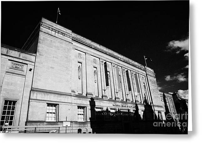 The National Library Of Scotland Edinburgh Scotland Uk United Kingdom Greeting Card by Joe Fox