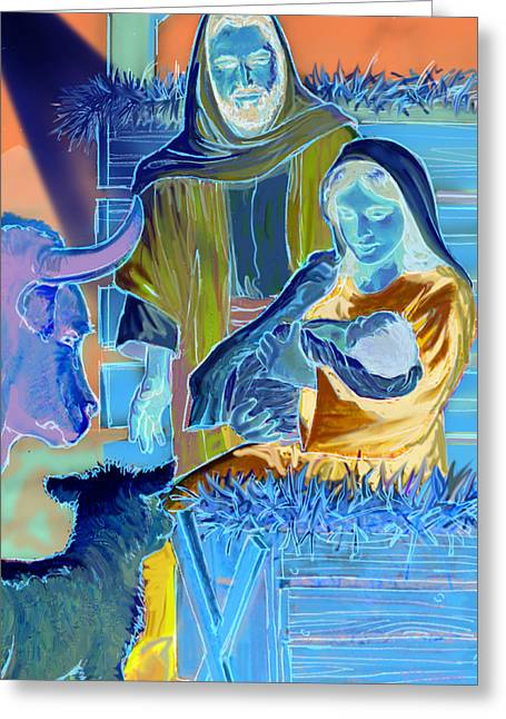 Biblical Pastels Greeting Cards - The Nativity Greeting Card by Valerian Ruppert
