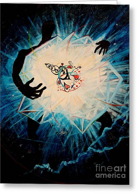 Ayahuasca Greeting Cards - The Navigator Greeting Card by Steve Griffith