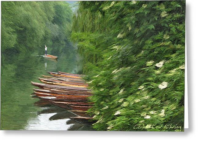 The Neckar river Greeting Card by Nikolay Vakatov
