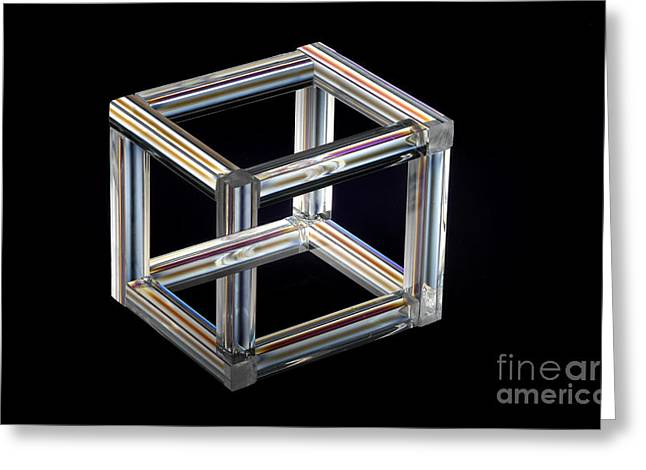 Impossible Object Greeting Cards - The Necker Cube Greeting Card by Raul Gonzalez Perez