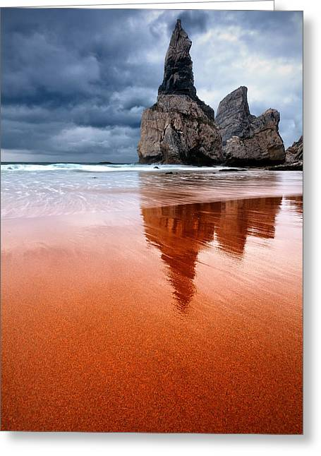 Portugal Greeting Cards - The Needle Greeting Card by Evgeni Dinev