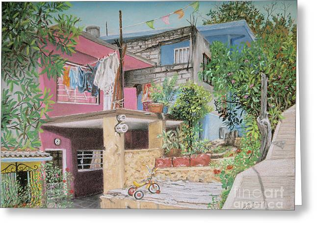 Mexicano Greeting Cards - The Neighborhood Greeting Card by Jim Barber Hove