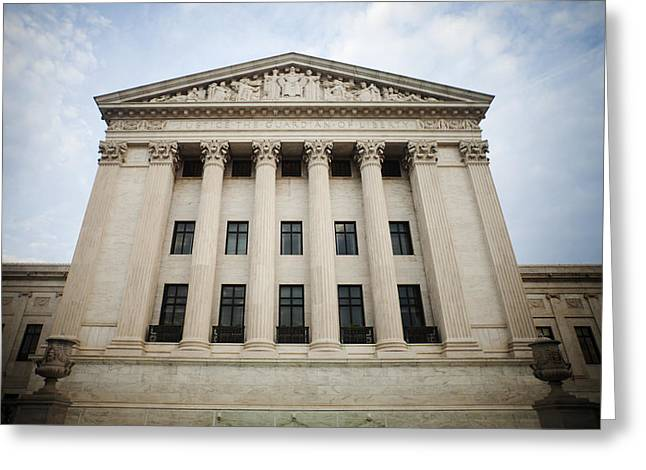 Court Room Greeting Cards - The Neoclassical Supreme Court Building Greeting Card by Charles Knox