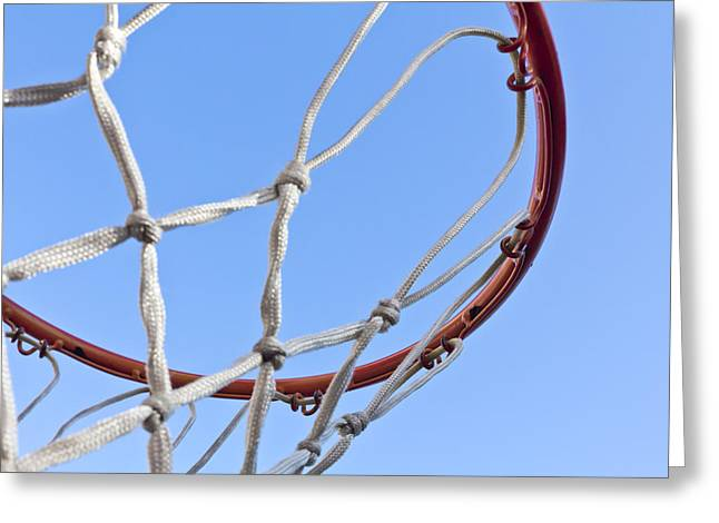 Basket Ball Game Greeting Cards - The Net and No Game Greeting Card by Nicholas Evans