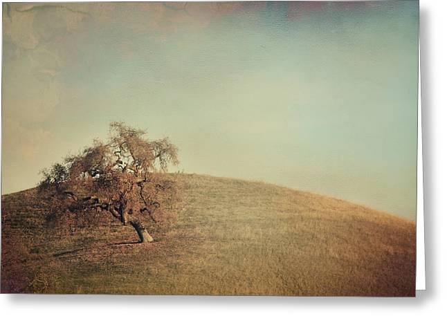 One Tree Greeting Cards - The Neverending Loneliness Greeting Card by Laurie Search