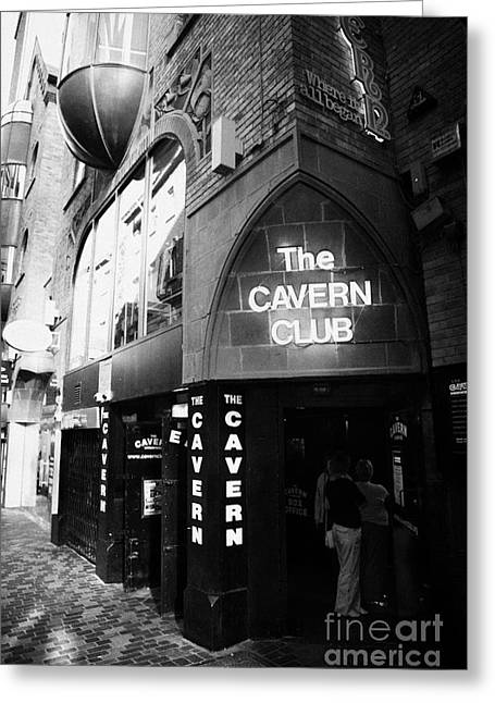 Cavern Club . Greeting Cards - The New Cavern Club In Mathew Street In Liverpool City Centre Birthplace Of The Beatles Greeting Card by Joe Fox