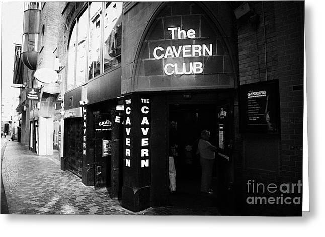 Cavern Club . Greeting Cards - The New Cavern Club In Mathew Street In Liverpool City Centre Birthplace Of The Beatles Merseyside Greeting Card by Joe Fox