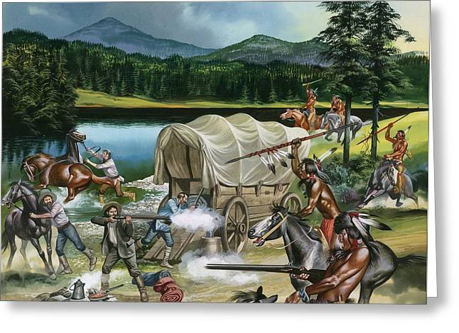 Indian Tribes Greeting Cards - The Nez Perce Greeting Card by Ron Embleton