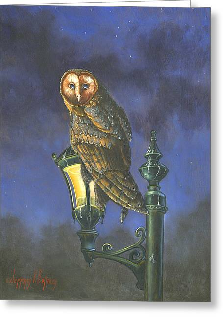 Brimley Greeting Cards - The Night Watch Greeting Card by Jeff Brimley