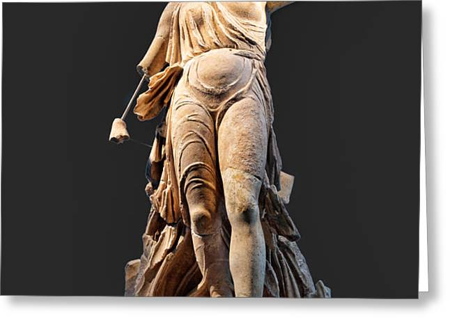 The Nike of Paeonios - Ancient Olympia Greeting Card by Constantinos Iliopoulos
