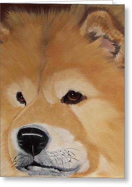 Chow Greeting Cards - The Noble Chow Greeting Card by Debbie LaFrance