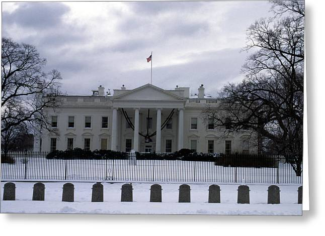 The North View Of The White House Greeting Card by Stacy Gold