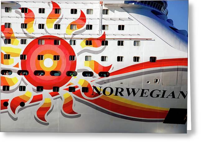 The Norwegian Sun Bow Greeting Card by Susanne Van Hulst