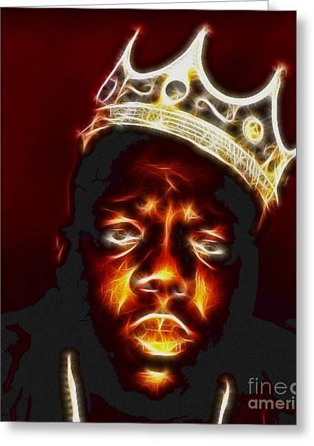 Paul Ward Greeting Cards - The Notorious B.I.G. - Biggie Smalls Greeting Card by Paul Ward