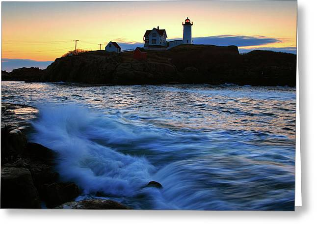 The Nubble Greeting Card by Rick Berk
