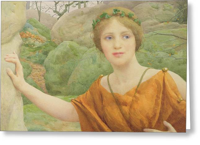 Fairies Greeting Cards - The Nymph Greeting Card by Thomas Cooper Gotch
