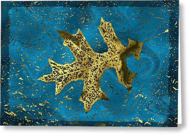 Tim Allen Greeting Cards - The Oak Leaf And The Wind Storm Greeting Card by Tim Allen