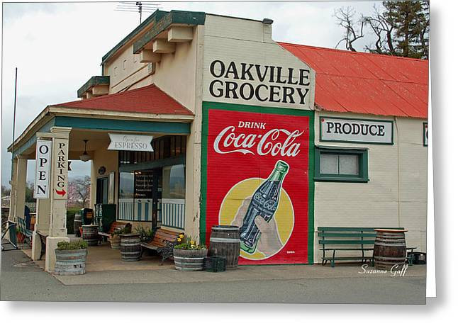 Recently Sold -  - Grocery Store Greeting Cards - The Oakville Grocery Greeting Card by Suzanne Gaff