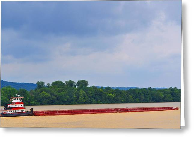 Rivers Ohio Greeting Cards - The Ohio River Greeting Card by Peter  McIntosh