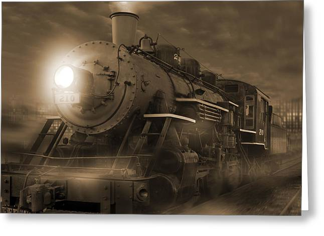 Iron Horse Greeting Cards - The Old 210 Greeting Card by Mike McGlothlen