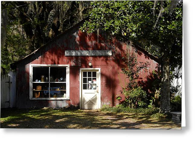 Florida Landscape Photography Greeting Cards - The Old Antique Store Greeting Card by David Lee Thompson