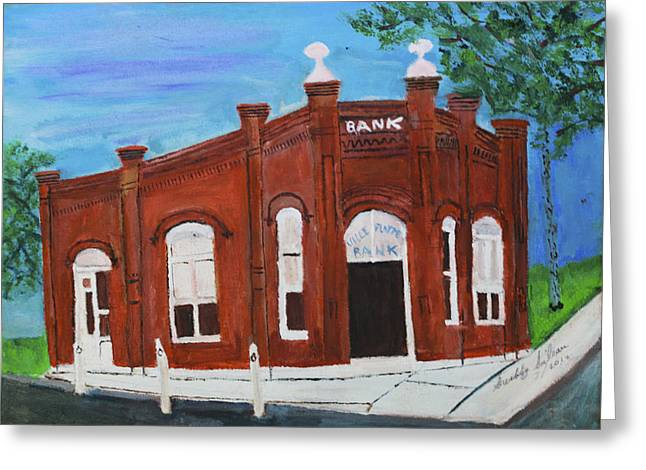 Ville Platte Greeting Cards - The Old Bank Greeting Card by Swabby Soileau
