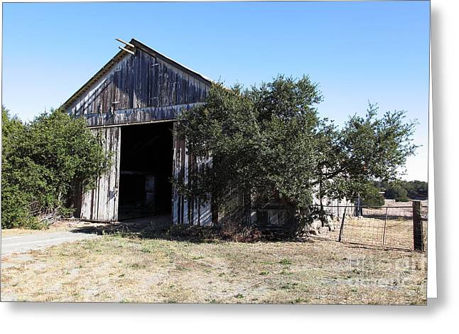 Old Barns Greeting Cards - The Old Barn - 5D19194 Greeting Card by Wingsdomain Art and Photography