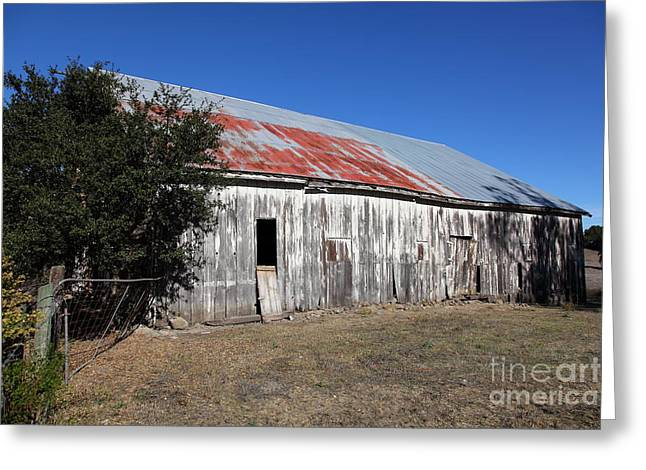 Old Barns Greeting Cards - The Old Barn - 5D19196 Greeting Card by Wingsdomain Art and Photography