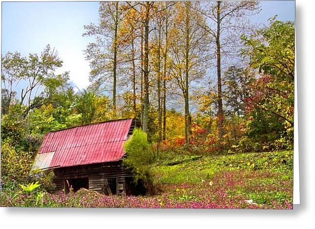 The Old Barn at Grandpas Farm Greeting Card by Debra and Dave Vanderlaan