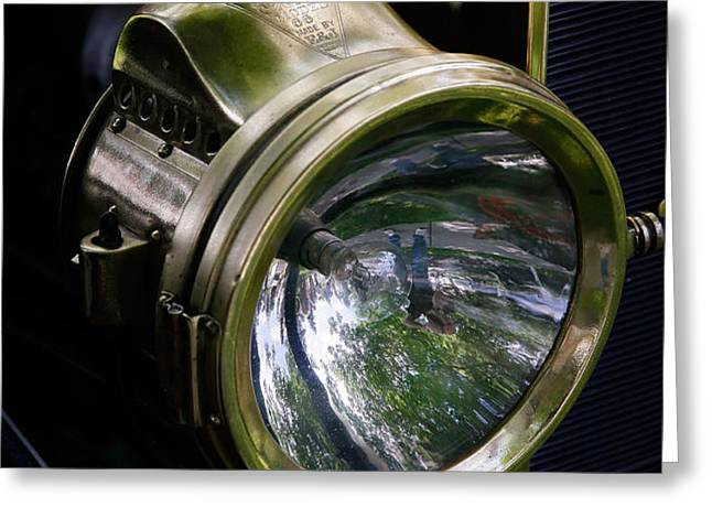 The Old Brass Ford Headlight Greeting Card by Steve McKinzie