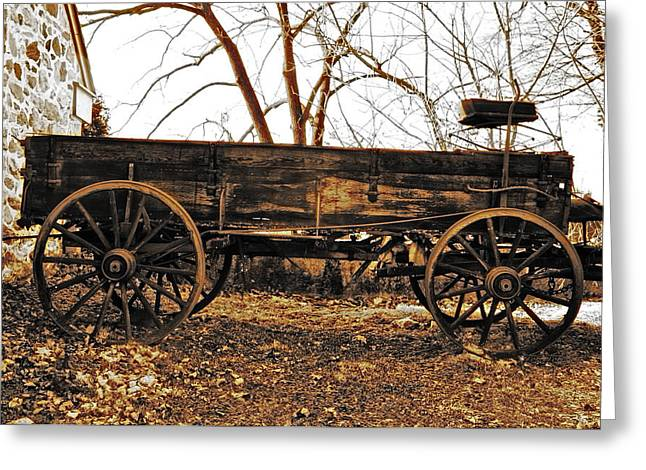The Old Buckboard Wagon Greeting Card by Bill Cannon