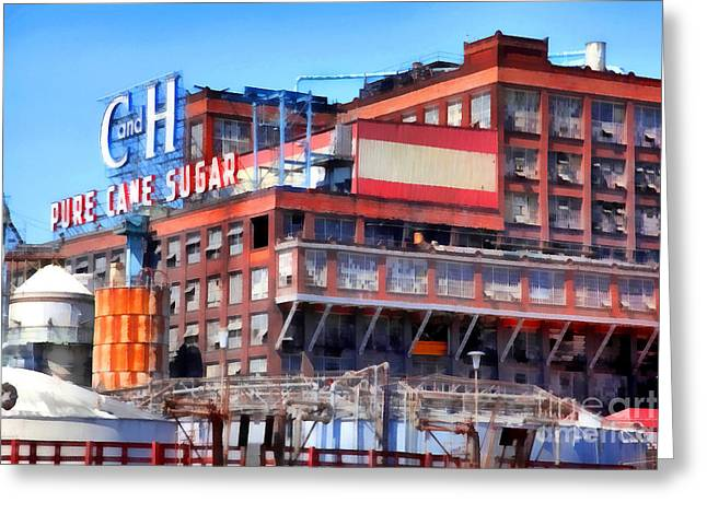 Manufacturing Digital Greeting Cards - The Old C and H Pure Cane Sugar Plant in Crockett California . 5D16769 Greeting Card by Wingsdomain Art and Photography