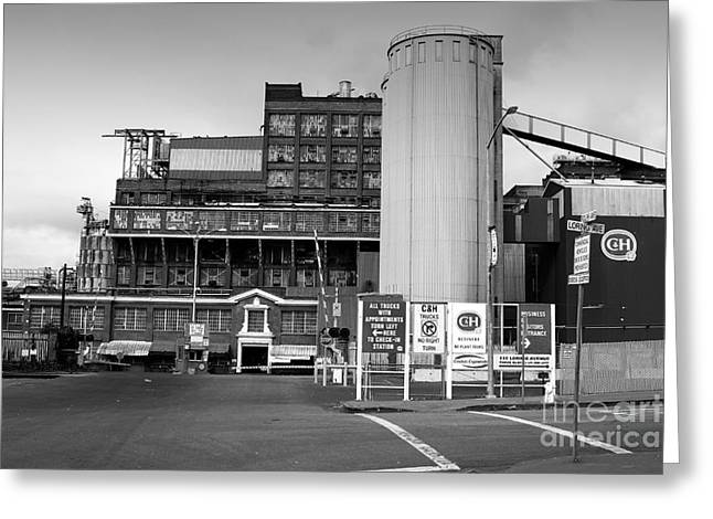 Manufacturing Greeting Cards - The Old California and Hawaii Pure Cane Sugar Company in Crockett California . 7D8841 Greeting Card by Wingsdomain Art and Photography