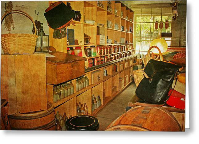 Country Store Greeting Cards - The Old Country Store Greeting Card by Kim Hojnacki