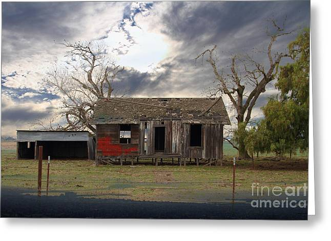 The Old Farm House In My Dreams Greeting Card by Wingsdomain Art and Photography