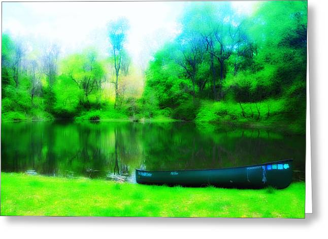 The Old Fishin Hole Greeting Card by Bill Cannon