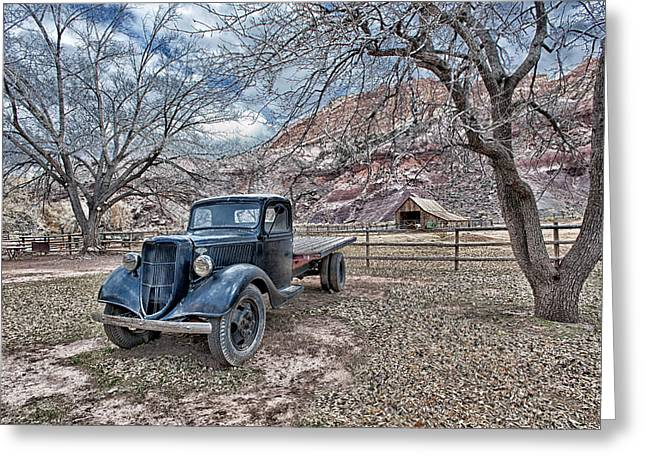 Capitol Greeting Cards - the Old Flatbed Greeting Card by Wade Aiken