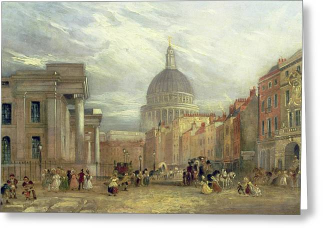 St Paul Greeting Cards - The Old General Post Office and St. Martins-le-Grand Greeting Card by George Sidney Shepherd