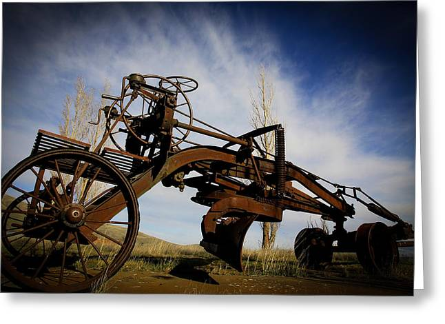 Horse And Buggy Greeting Cards - The Old Grader Greeting Card by Steve McKinzie