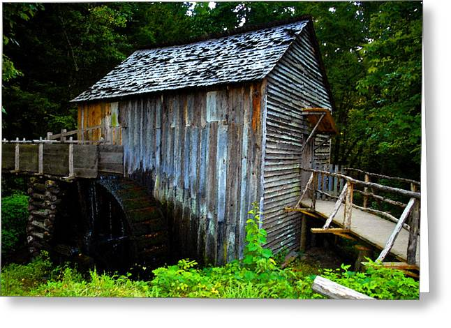 Grist Mill Digital Art Greeting Cards - The Old Grist Mill Greeting Card by David Lee Thompson