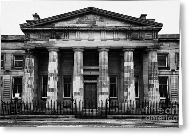 Centre Court Greeting Cards - The Old High Court Of Justiciary Building Saltmarket Glasgow Scotland Uk Greeting Card by Joe Fox