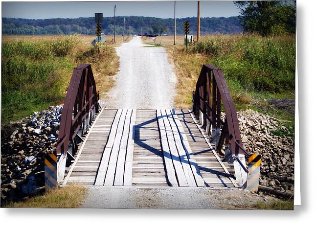 Hartsburg Greeting Cards - The Old Iron Bridge Greeting Card by Cricket Hackmann