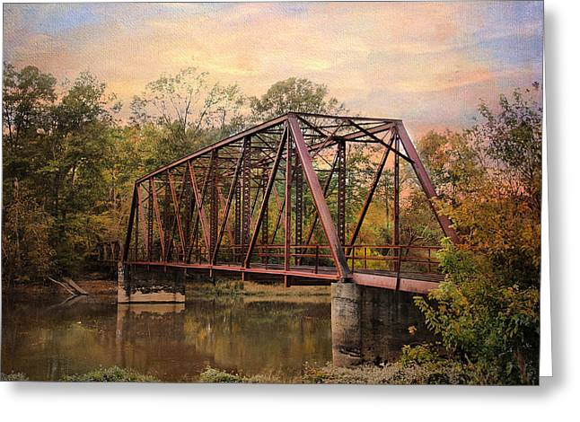 The Old Iron Bridge Greeting Card by Jai Johnson