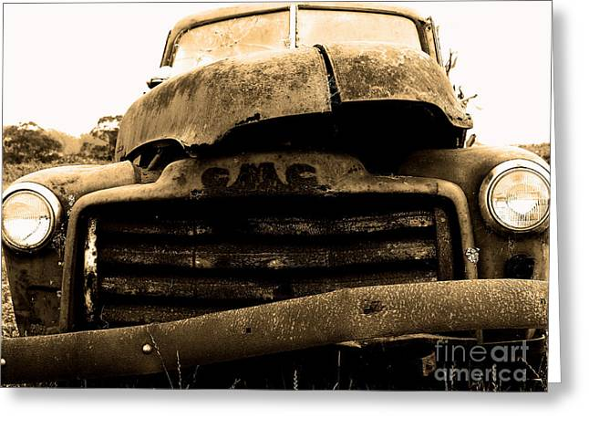 Old Truck Photography Greeting Cards - The Old Jalopy . 7D8396 Greeting Card by Wingsdomain Art and Photography
