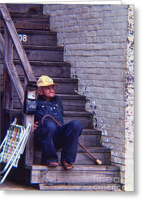 Photographers Doraville Greeting Cards - The Old Man Upstairs Greeting Card by Corky Willis Atlanta Photography