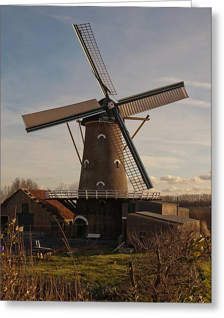 Moerdijk Greeting Cards - The Old Mill in the Dutch hamlet Oudemolen Greeting Card by Ruud Morijn