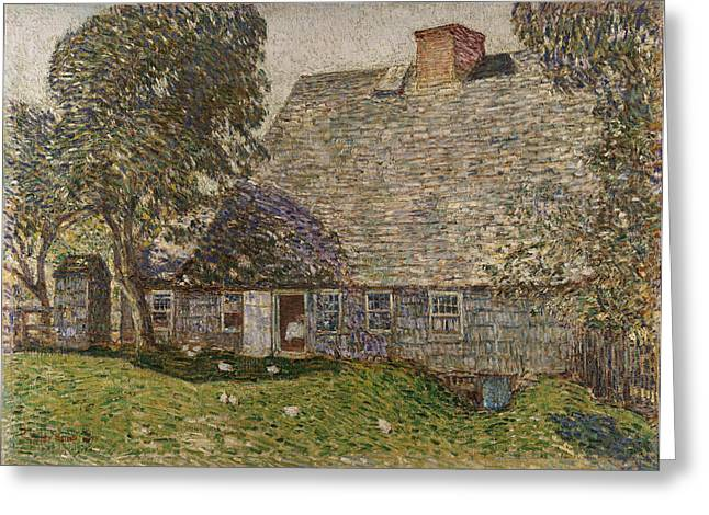 East Hampton Paintings Greeting Cards - The Old Mulford House Greeting Card by Childe Hassam