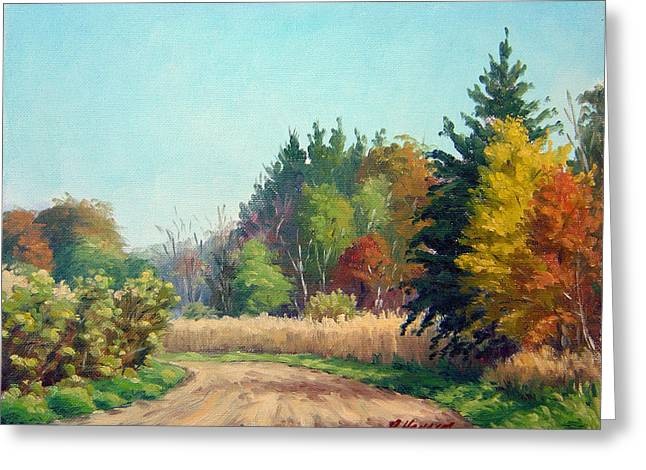 Award Winning Art Greeting Cards - The Old Park Road Greeting Card by Rick Hansen