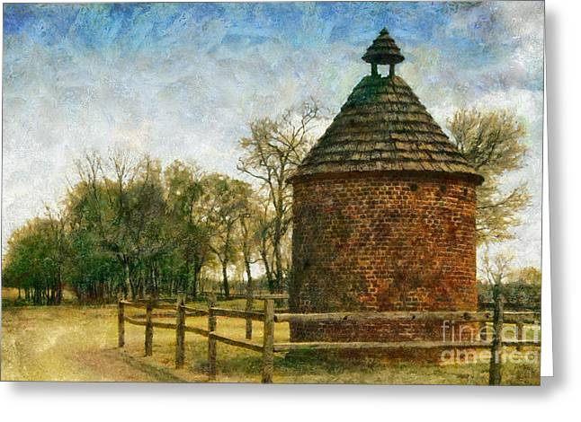 Dovecote Greeting Cards - The Old Pigeonaire Greeting Card by Susan Isakson